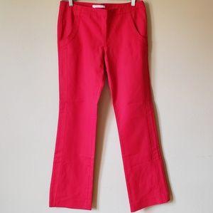 Derek Lam 10 Crosby Stretch Red Boot Cut Pants